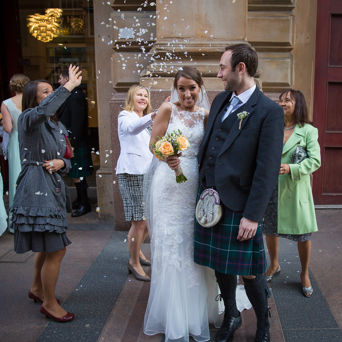 Old Fruitmarket Glasgow Wedding Photographs