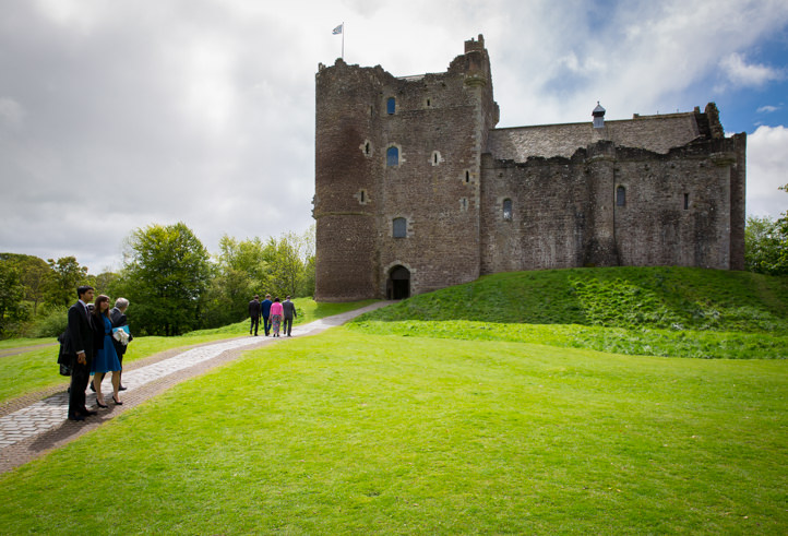 Wedding at Doune Castle and the Roman Camp Hotel