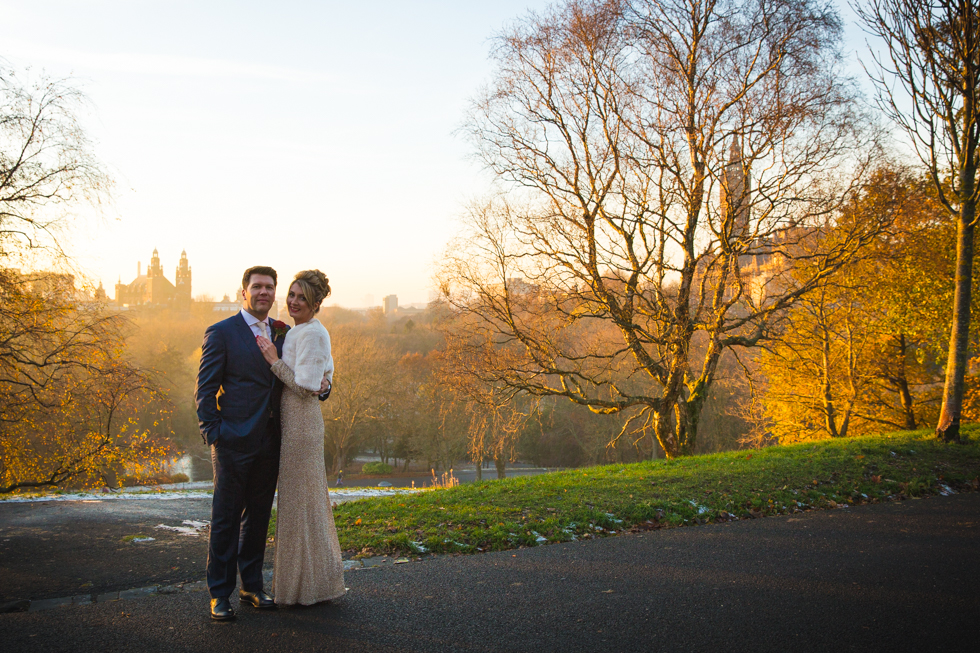 Winter wedding in Glasgow, Scotland