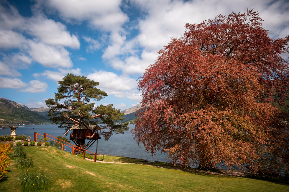 Lodge on Loch Goil Wedding. Treehouse wedding