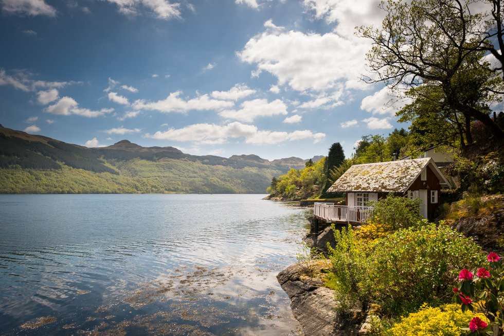 Lodge on Loch Goil Wedding. The boathouse at the Lodge on Loch Goil
