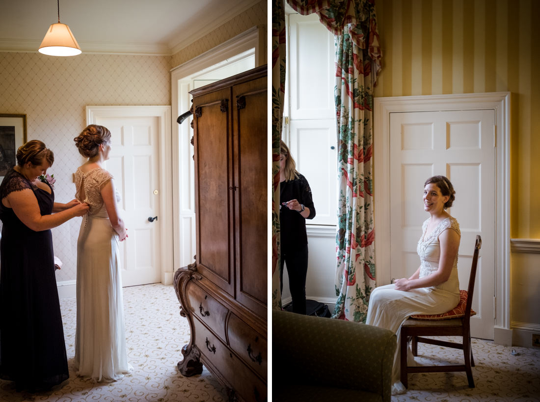 Culzean Castle Wedding Bride getting Dressed