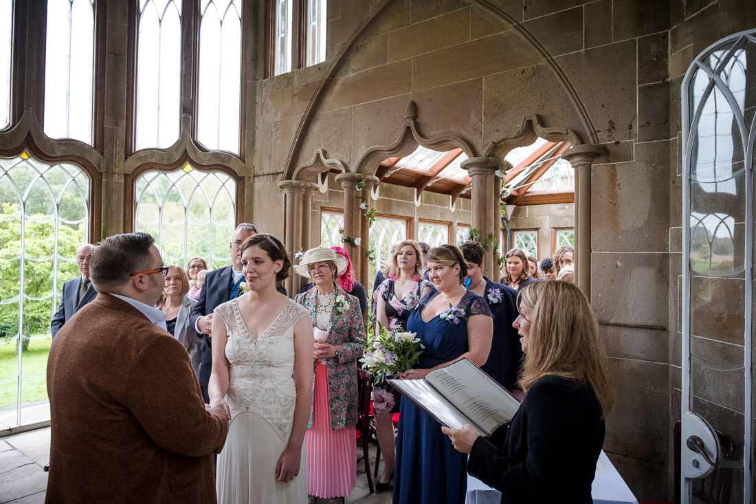 Culzean Castle Wedding Ceremony in the Camellia House