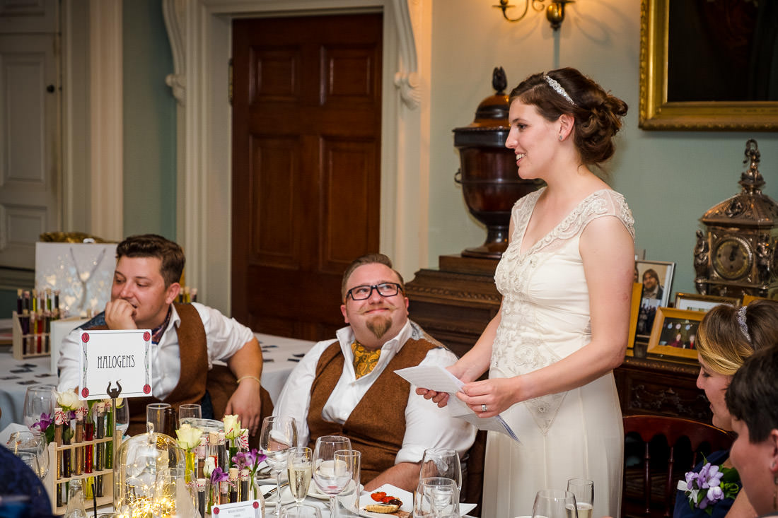 Culzean Castle Wedding Bride Speech