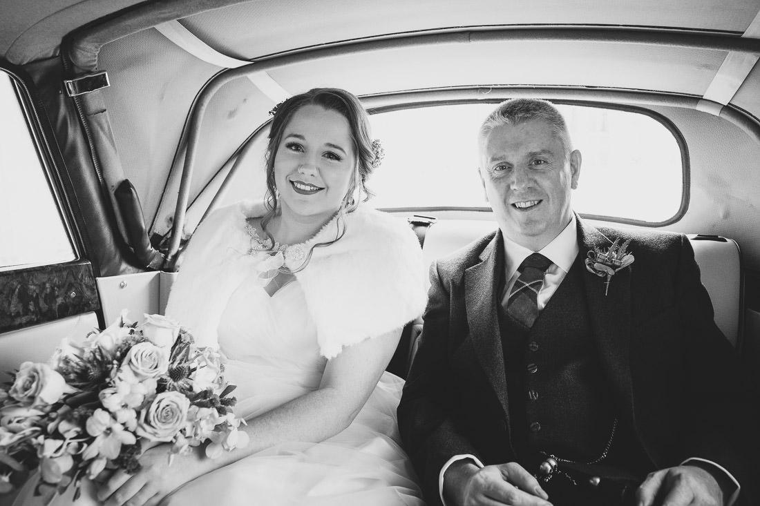 1950s Wedding on the West Coast of Scotland near Glasgow in Autumn
