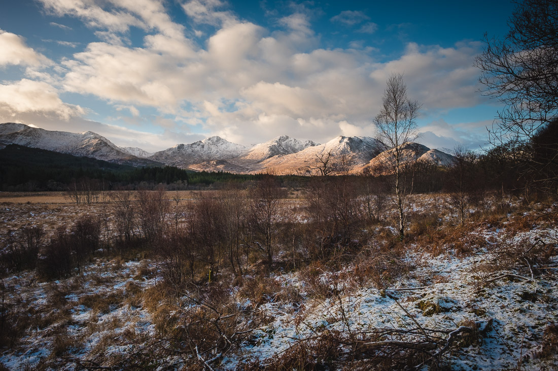 Winter Elopement Arisaig - Glenfinnan Mountains with Snow
