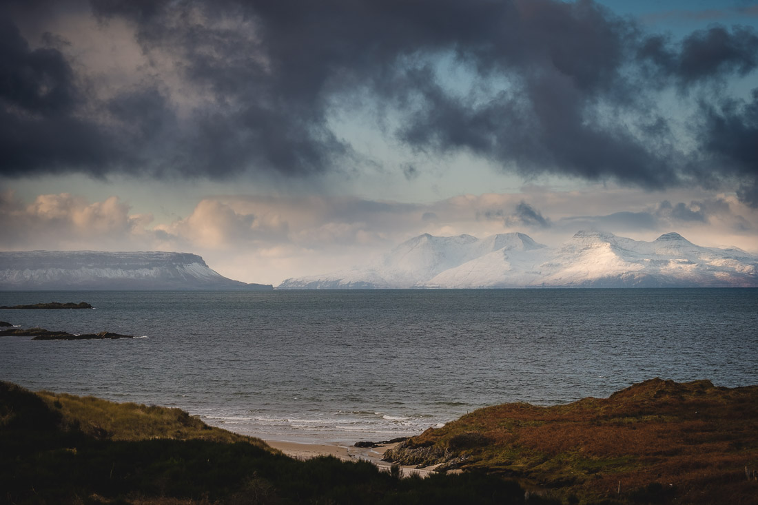 Winter Elopement Arisaig - view from Morar