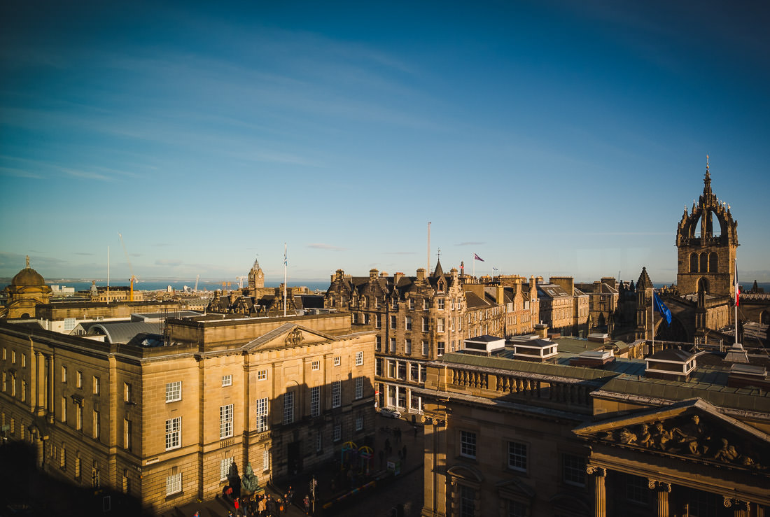 Signet Library Wedding in Edinburgh - Aerial View of St Giles Cathedral