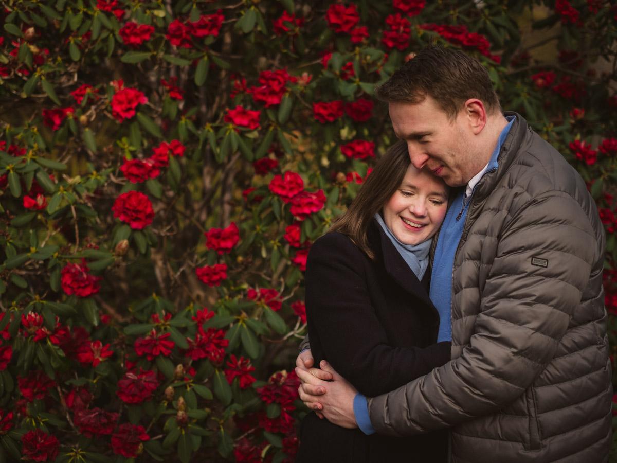 Pre-wedding Engagement Photoshoot in Edinburgh Botanic Gardens