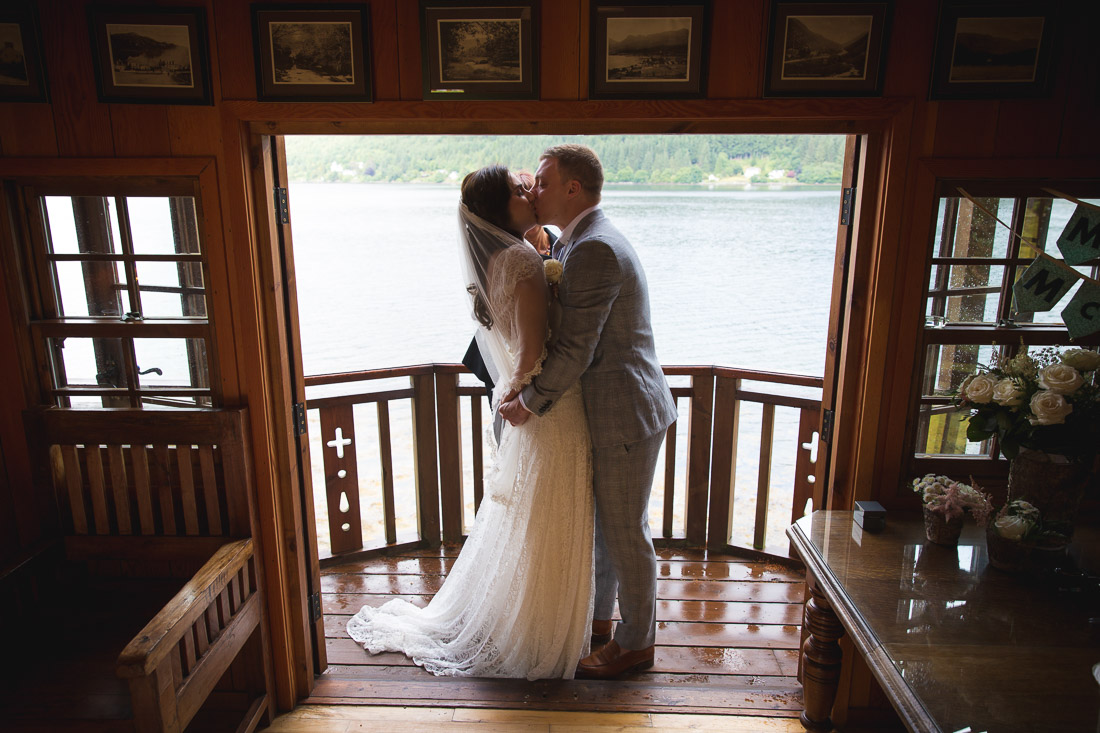 Elopement Photographer in Scotland Lodge Loch Goil