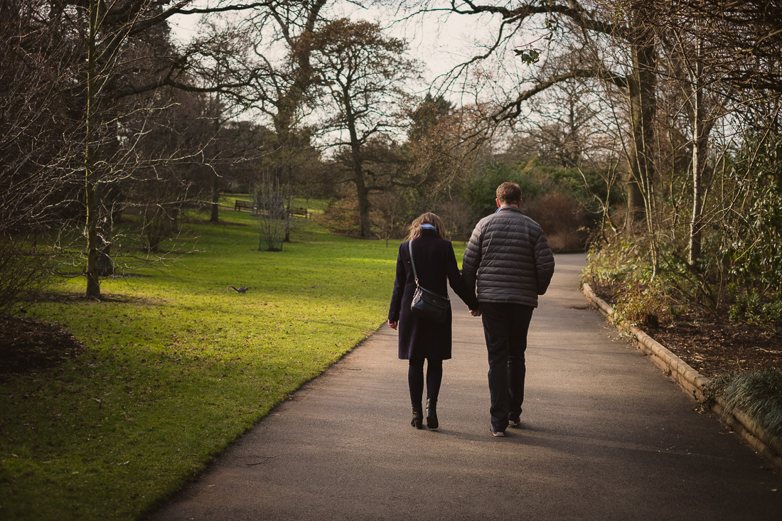 Pre-wedding Engagement Photoshoot in Edinburgh Botanic Gardens