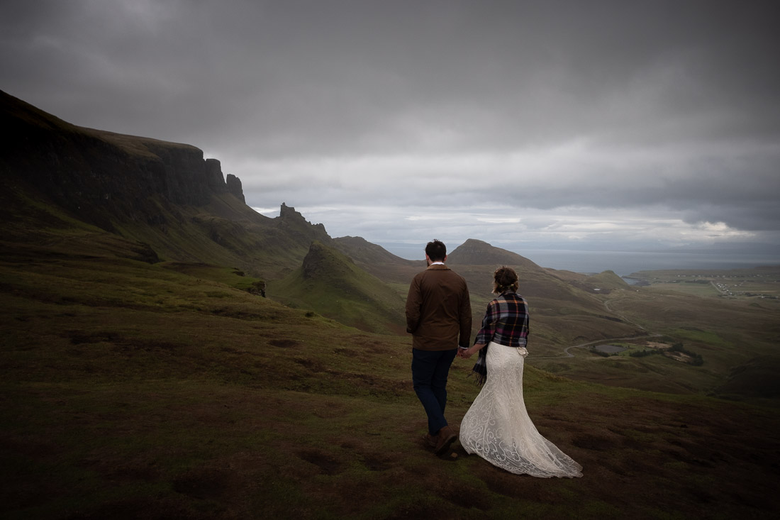 Isle of Skye Elopement Wedding Quiraing