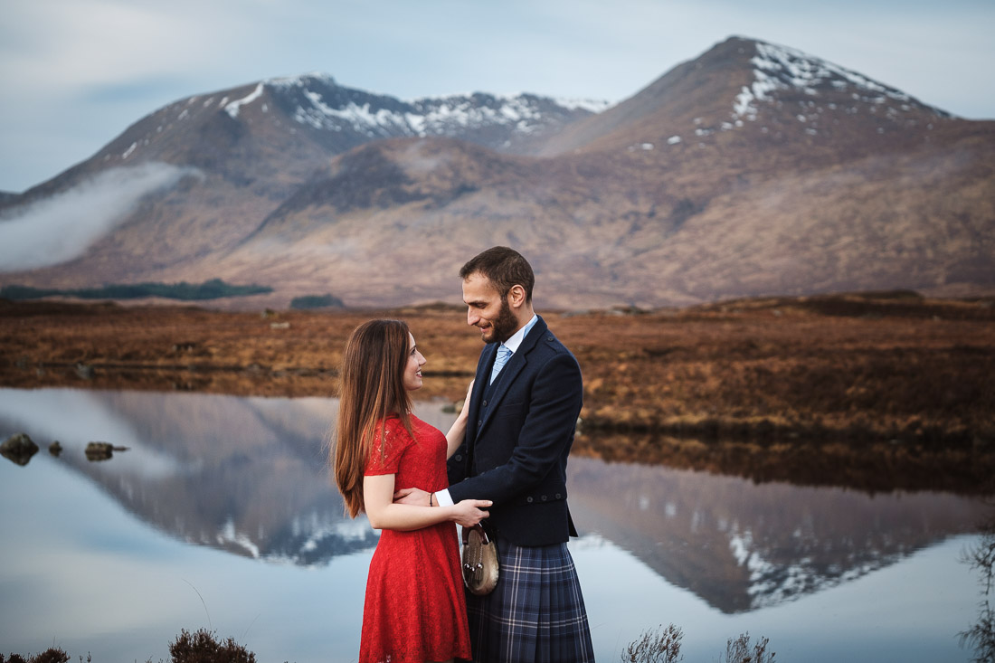 glencoe engagement photoshoot rannoch moor