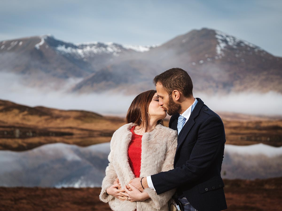 engagement photoshoot glencoe