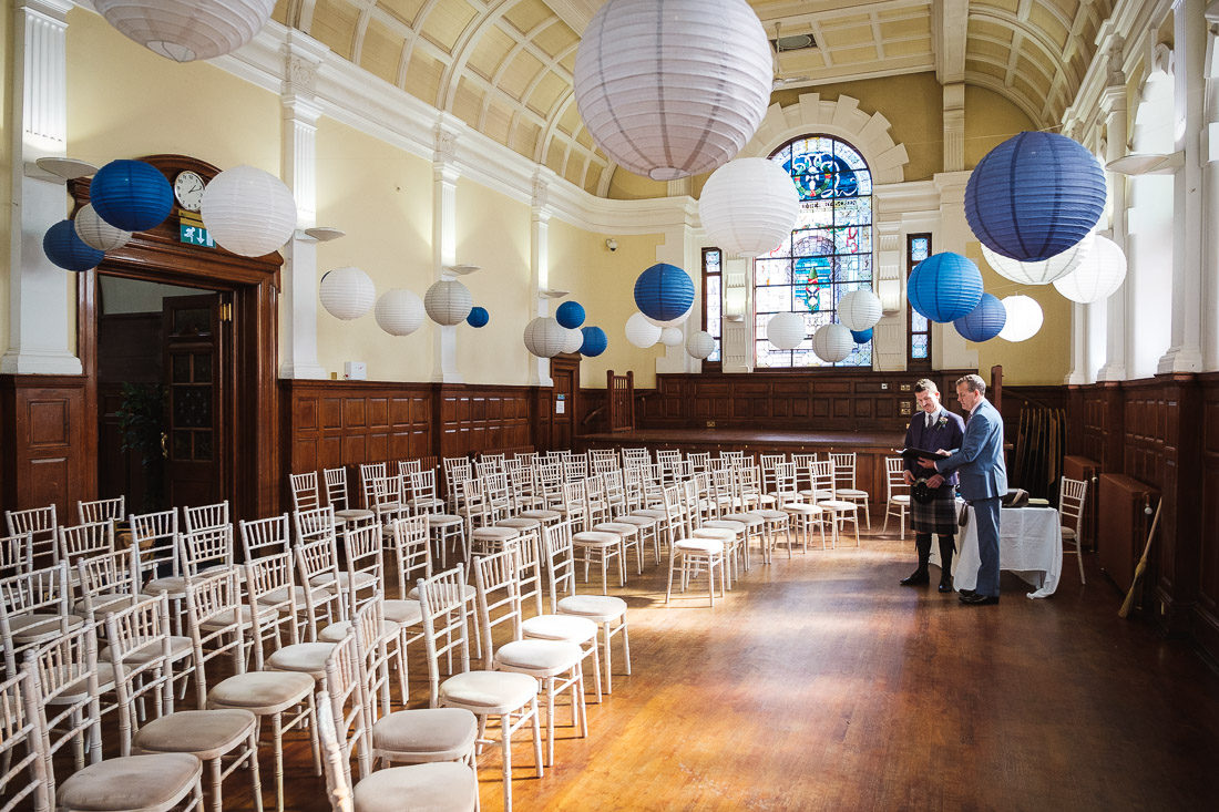 Wedding at Pollokshields Burgh Hall
