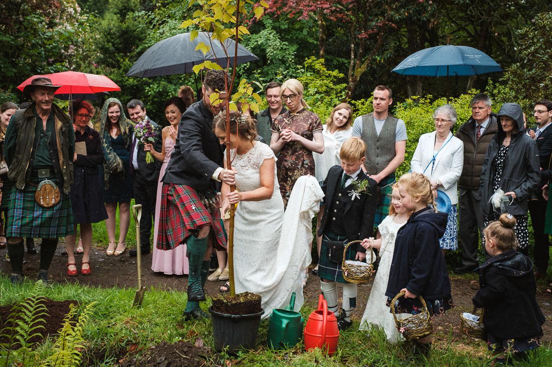 Arisaig Woodland Wedding Larachmor Gardens