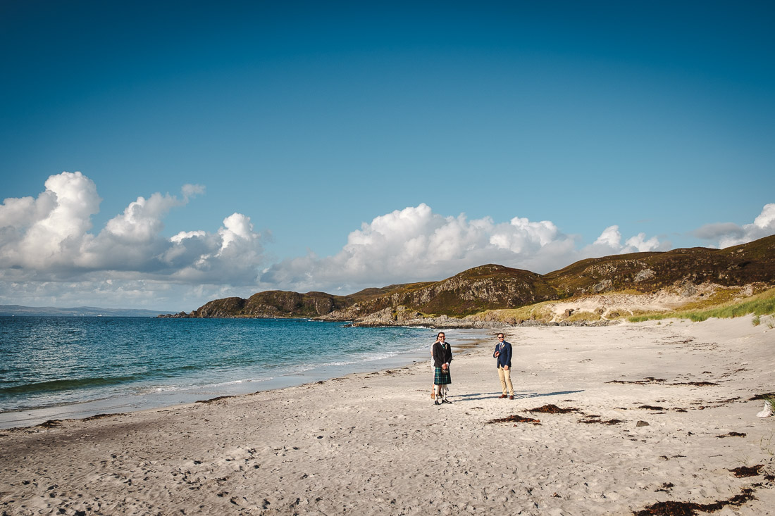 Camusdarach Beach Wedding