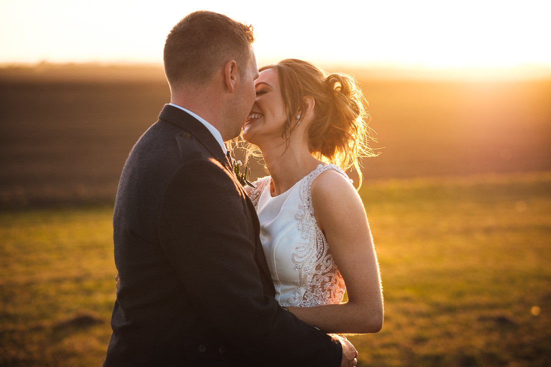 Cow Shed Crail Wedding Sunset photographs