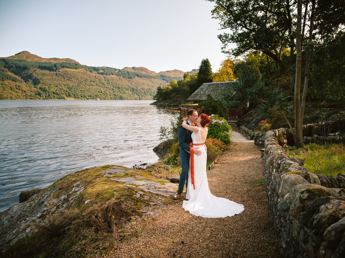 Lodge on Loch Goil Elopement - Jenny and Andy